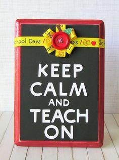"Dottess Holly Gagnon shows you how to create a ""Keep Calm and Teach On"" craft for Teacher Appreciation! #GlueDots #TeacherAppreciation"