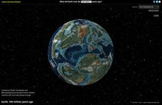 Ancient Earth Earth Science, Science Nature, History Of Earth, Ancient History, Ap Environmental Science, Plate Tectonics, Story Of The World, Earth From Space, Interactive Map