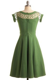 With Only a Wink Dress in Peridot, #ModCloth