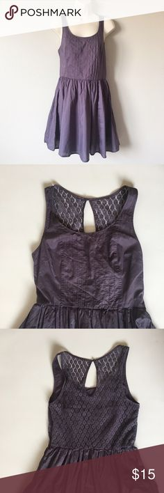 "Lauren Conrad Crochet Back Dress Easy and flattering cotton dress with crochet back detail. Built in slip. Bust = 32"" Length = 34"". Worn a couple times, great condition, no flaws. LC Lauren Conrad Dresses"