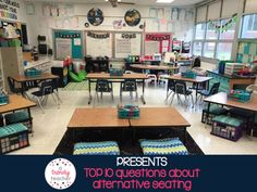 A Trendy Teacher: Alternative Classroom Seating. I love the set up of this classroom Classroom Layout, Classroom Design, School Classroom, Classroom Organization, Classroom Management, Classroom Decor, Classroom Setting, Classroom Arrangement, 21st Century Classroom
