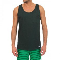 MELANGE COTTON TANK-TOP WITH A CHEST POCKET Rosen Spring melange cotton Tank-Top featuring a wide round neckline, tone on tone small chest pocket, Saturdays Surf NYC logo sewn on the bottom, ribbed trims. COMPOSITION: 100% COTTON. Our model wears size L, he is 189 cm tall and weighs 86 Kg.