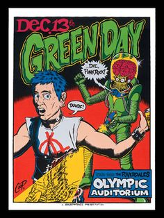 Green Day concert art by Coop