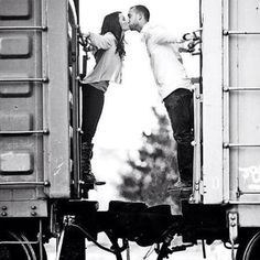 The wife and I have hopped trains but forget to kiss :(