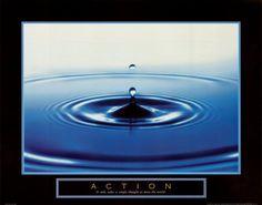 Action: Drop of Water Kunstdruk