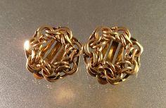 Gold Filled Earrings 12K GF Clip On Woven by LynnHislopJewels