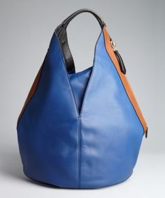 Givenchy : blue and brown leather 'Tinhan' medium bag