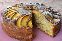 Moist and light peach cake