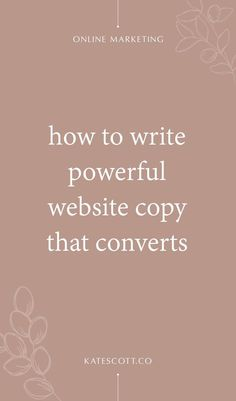Not sure where to start when it comes to writing copy for your website? Heres a comprehensive guide. Web Design Blog, Website Design Inspiration, Online Marketing, Business Marketing, Online Business, Mobile Marketing, Content Marketing, Media Marketing, Digital Marketing