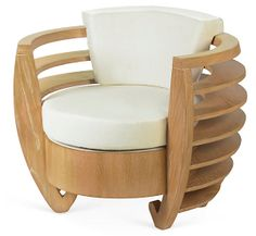 One Kings Lane - From East to West - Curva Chair, Beige