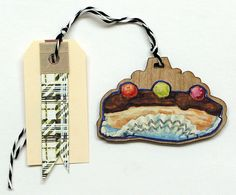 Eclair Gift Tag Ornament by cleomade on Etsy