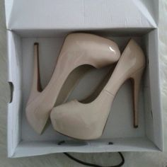 Nude Pumps Nude Pumps from Aldo. Gently used, great condition!  Heel height: 5 inches   True to size Aldo  Shoes