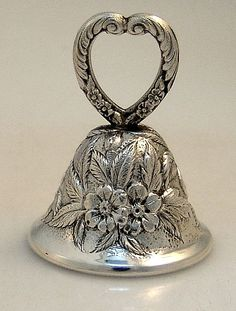 Repousse Bell S. Kirk Sterling Silver 1940 (Cheryl Peay, please do not repin this to this board)
