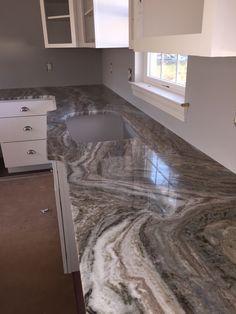 Fantasy Brown Quartzite Kitchen Countertop W Straight