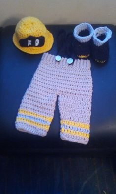 Crochet Fireman Outfit  Baby Fireman Outfit  by NiftyCreations4you