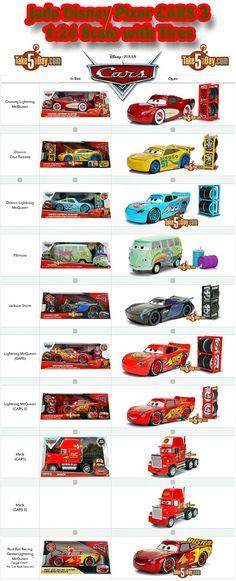 Disney Pixar CARS 3: Jada 1:24 with Tires Buying Guide & Checklist