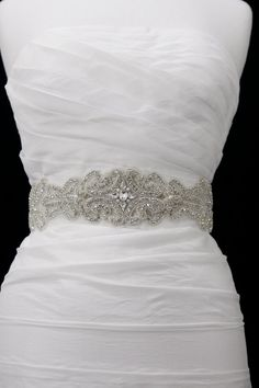 Crystal Bridal Sash Belt , Wedding Sash. $180.00, via Etsy.    LOVE LOVE THIS!