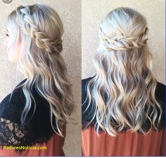 wedding hair front view New Bridal Updo Front View Braids Ideas - Bridesmaid Hair Half Up - Prom Hairstyles, My Hairstyle, Down Hairstyles, Trendy Hairstyles, Bridesmaid Hairstyles, Medieval Hairstyles, Gorgeous Hairstyles, Hairstyle Tutorials, Hairstyle Ideas
