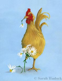 Rooster Daisies © 2013 Sarah Hudock,  Lighthearted Art, all rights reserved. http://lightheartedart.com