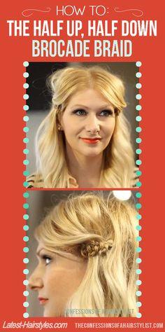 Stunning brocade #braid tutorial!