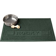 "Personalized 28"" Pet Mat in Evergreen  at Joss and Main"