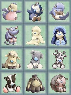 Tatty teddy - my blue nose friends Tatty Teddy, Blue Nose Friends, Quilt Baby, Cute Drawings, Animal Drawings, Cute Images, Cute Pictures, Baby Animals, Cute Animals