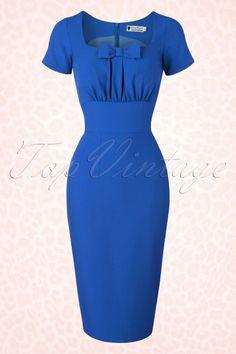 Daisy Dapper Debbie Dress Royal Blue