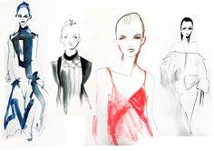 Joshua Osborn Illustrates London Fashion Week SS14  . - Zeynep Tosun SS14