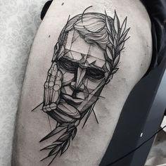 O pensador. Tattoo do Eduardo muito obrigado mais uma vez man