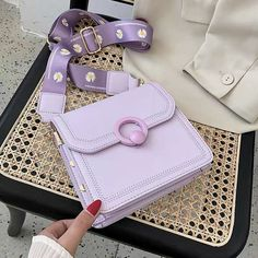 Lavender Aesthetic, Purple Aesthetic, Fashion Bags, Fashion Accessories, Aesthetic Bags, Kawaii Bags, Accesorios Casual, Pinterest Fashion, Girls Bags