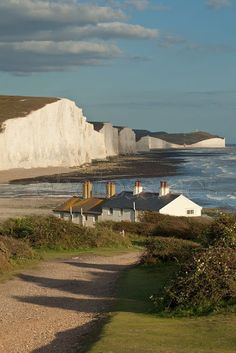 Baywatch | Coastguard Cottages Seven Sisters South Downs National Park East Sussex England..... #Relax more with healing sounds: