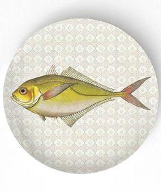 Sea Life Fish IV - 1800s fish artwork  - 10 inch Melamine Plate