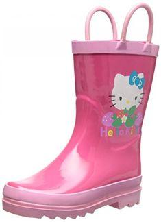 ed2ccdb656db Sanrio Hello Kitty Girl s Pink Rain Boots (Toddler Little Kid) (6 M US  Toddler