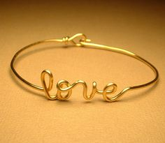 Love Bracelet by GLITTERBOXJEWELRY on Etsy, $17.00. Maybe a good bridesmaids' gift idea
