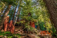 A-frame Cabin For Sale in Skykomish, WA 0014 Cabins For Sale, Tiny Houses For Sale, Tiny House On Wheels, A Frame House Plans, A Frame Cabin, Green Metal Roofing, Propane Fireplace, Tiny House Talk, Little Cabin