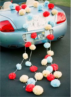 Just married car decorations