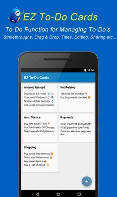 EZ Notes - To-Do Cards