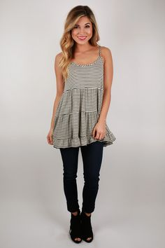 Sailor Stripe Babydoll Top