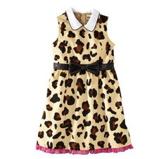 From Gwen Stefani's kids line for Target #dress #leopard #fashion #kids #cute #pinparty