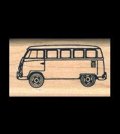 VW Van Rubber Stamp