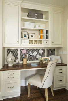 This would be a great homework station off the kitchen. Edina Boulevard | Martha O'Hara Interiors--or bedroom or mudroom