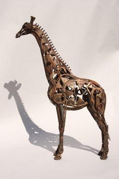 Hedge-trimmer Giraffe‐Found Object Steel‐HarrietMead