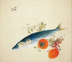 Takeuchi Seihō, Autumn Fattens Fish and Ripens Wild Fruits, 1925