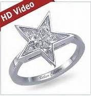 Star Shaped Diamond Engagement Ring With Kite Shape Diamonds ...