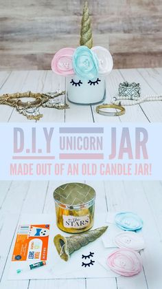 Y Unicorn Jar unicorn craft unicorncraft diy 84090718029166008 Diy Projects For Couples, Diy Craft Projects, Craft Tutorials, Diy Crafts For Kids, Jar Crafts, Kids Diy, Diy Holiday Gifts, Diy Gifts, Holiday Crafts