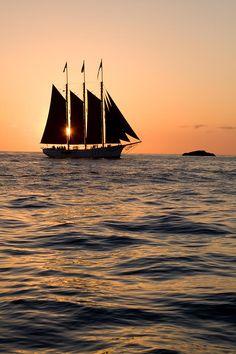 ✮ Tall ship at Sunset
