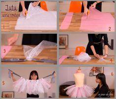 Un costume de fée sans couture (no sew tutu) C'est bientôt la saison des fêtes costumées pour les petits bouts. Alors avec Mondial tissus, on vous propose cette chouette idée pour habiller les filles...