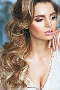 simple wedding hairstyles wavy large curls hair elstilespb