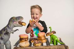 Amber R's Birthday / Dinosaurs - Jax's DINOmite Donut Birthday at Catch My Party