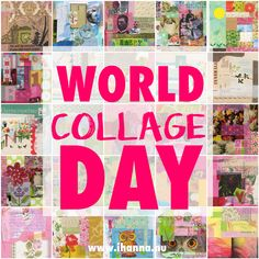 World Collage Day - An International Celebration of Collage Diy Postcard, Cut Out People, Love Collage, May I, Printable Coloring Pages, More Fun, Things That Bounce, Something To Do, Fun Facts
